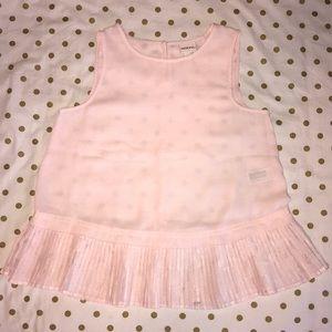 MERONA- XS - Light Pink Chiffon Blouse with Ruffle